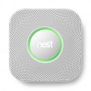 Nest CO2 and Fire Detector as part of a digital living smart home staging package